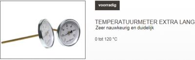 temperatuur meter lang